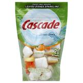 Cascade Dishwasher Detergent, ActionPacs, 4X Concentrated, Citrus Scent, 20 pacs [12.7 oz (360 g)] at mygofer.com