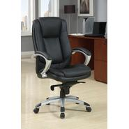 Black and Chrome Rennas Leatherette Office Chair at Sears.com