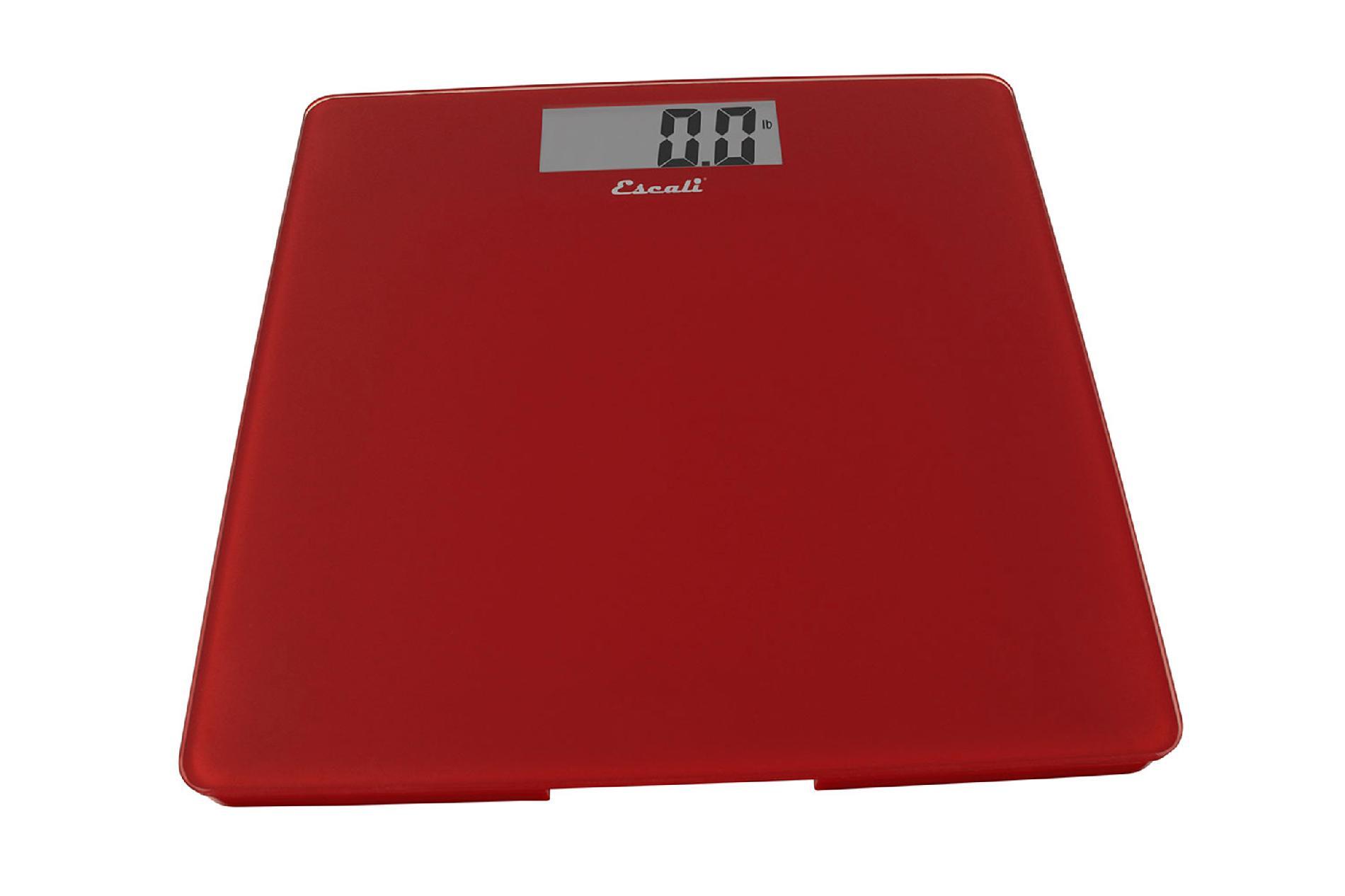 Glass Platform Bathroom Scale  Rio Red  440 Lb / 200 Kg