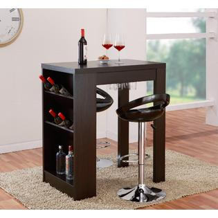 Furniture of America Mantics Cappuccino Dry Bar and Wine Cabinet