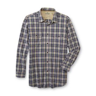 Outdoor Life Men's Big & Tall Roll-Tab Shirt - Plaid