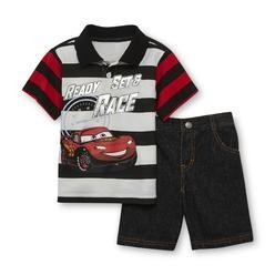 Disney Baby Cars Infant & Toddler Boy's Polo Shirt & Denim Shorts at Kmart.com