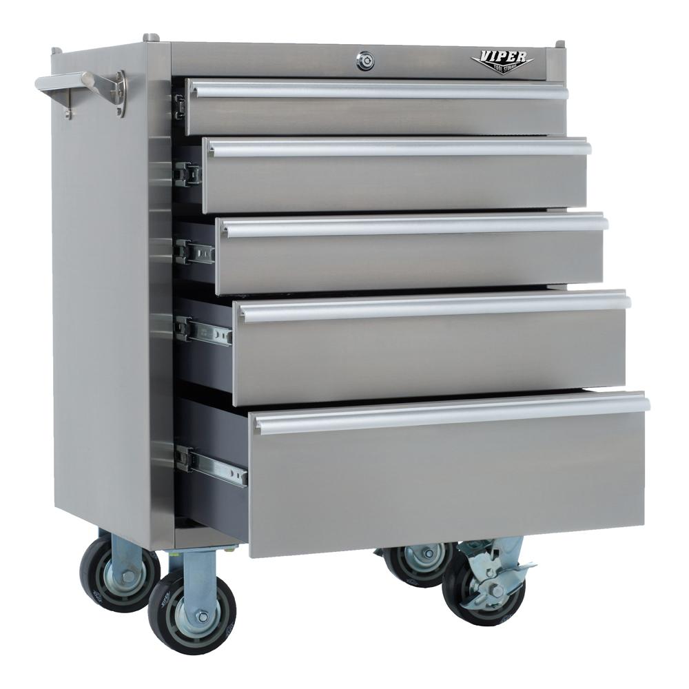 Viper Tool Storage V2605ssr 26 Inch 5 Drawer 18g Stainless