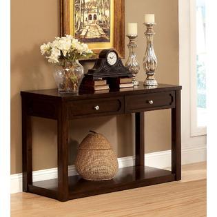 Furniture of America Lana Brown Cherry Storage Sofa Table