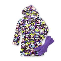 Joe Boxer Girl's Hooded Dorm Shirt & Socks - Monkey, Panda & Frog at Kmart.com
