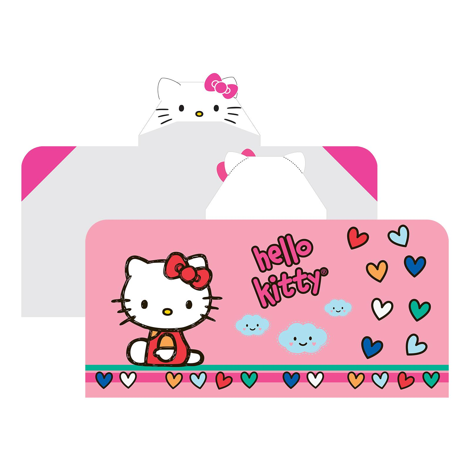 Sanrio Hello Kitty Hooded Wrap Towel - Hearts