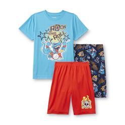 Joe Boxer Boy's Pajama Shirt & 2 Pairs Shorts - Dino Drummer at Kmart.com