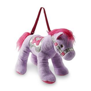Olly & Friends Girl's Pony Stuffed Animal Purse