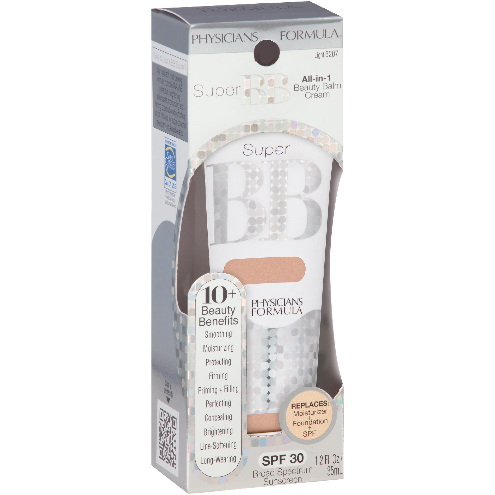 Physicians Formula Beauty Balm Cream, All-in-1, SPF 30, Light 6207, 1.2 fl oz (35 ml)