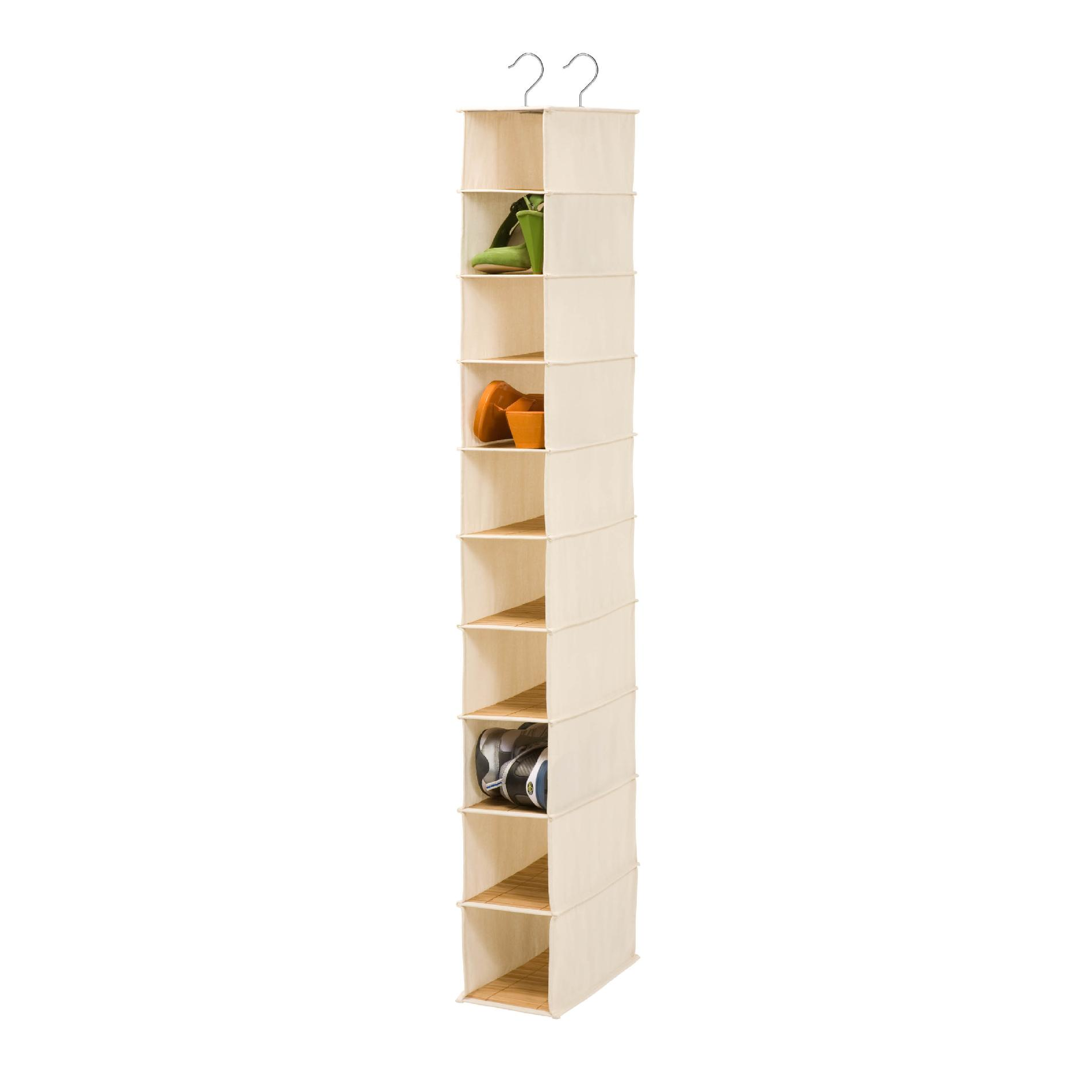 Honey Can Do 10 Shelf Shoe Organizer - Bamboo