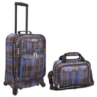 U.S. Traveler U.S. Traveler Clovis 2 Piece Luggage Set, Plaid Print