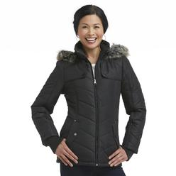 Basic Editions Women's Hooded Puffer Coat at Kmart.com