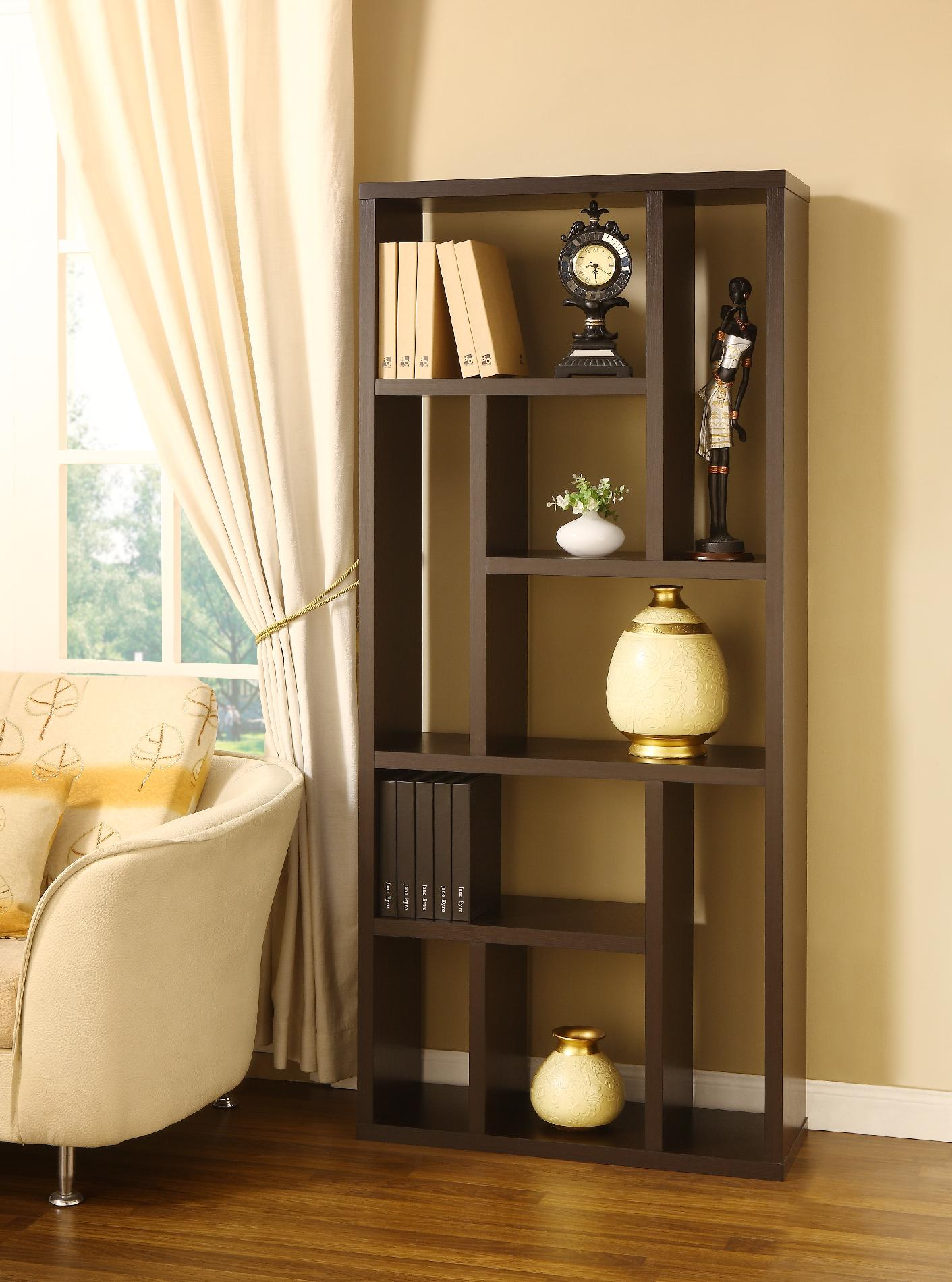 Furniture of America Multi-functional Hennan Black Bookcase