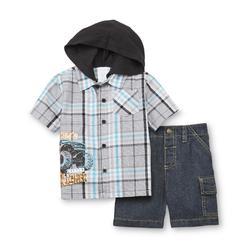 WonderKids Infant & Toddler Boy's Short-Sleeve Hooded Shirt & Shorts - Truck at Kmart.com