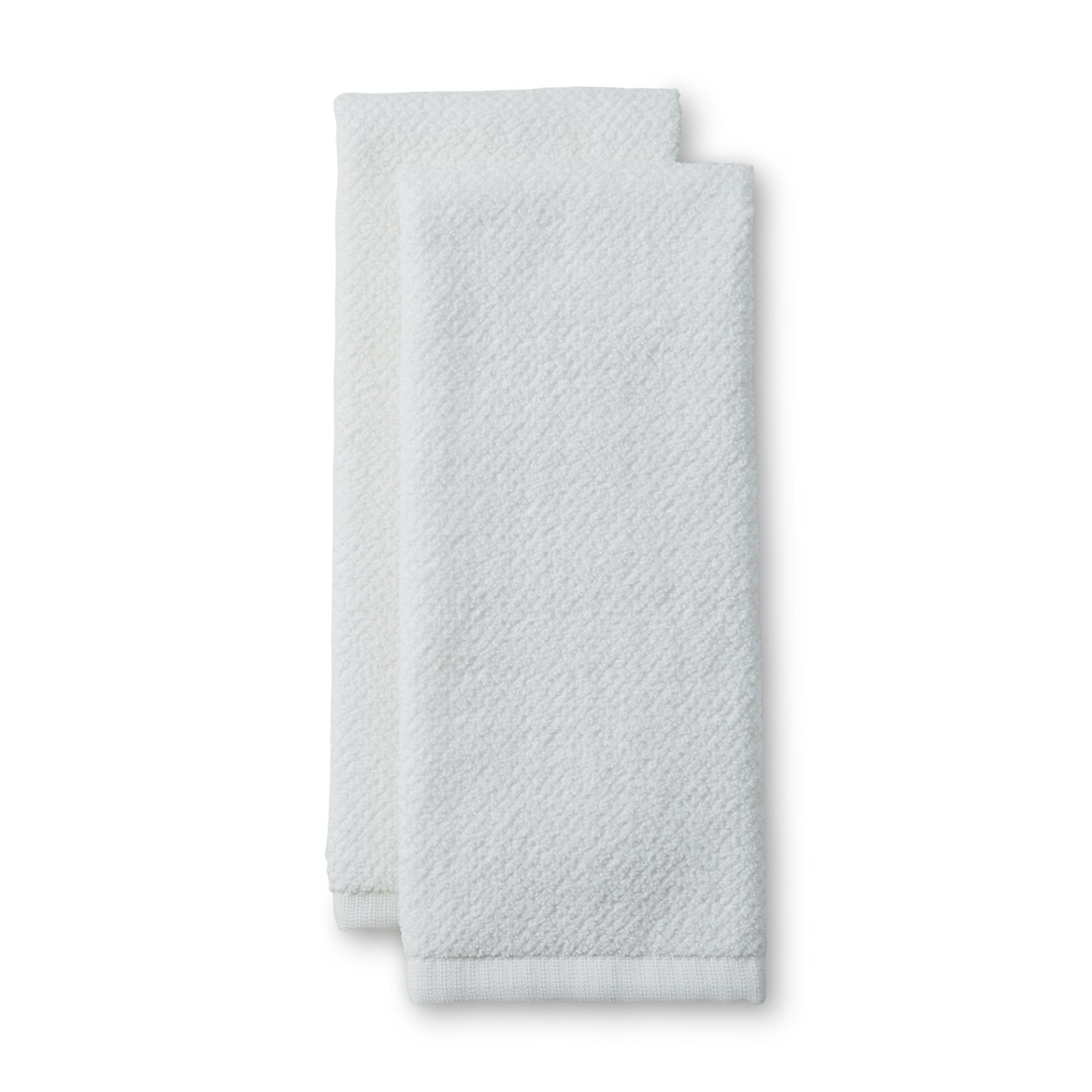Essential Home 2 Pack Microfiber Kitchen Towels Home Kitchen Kitchen Linens Kitchen Towels