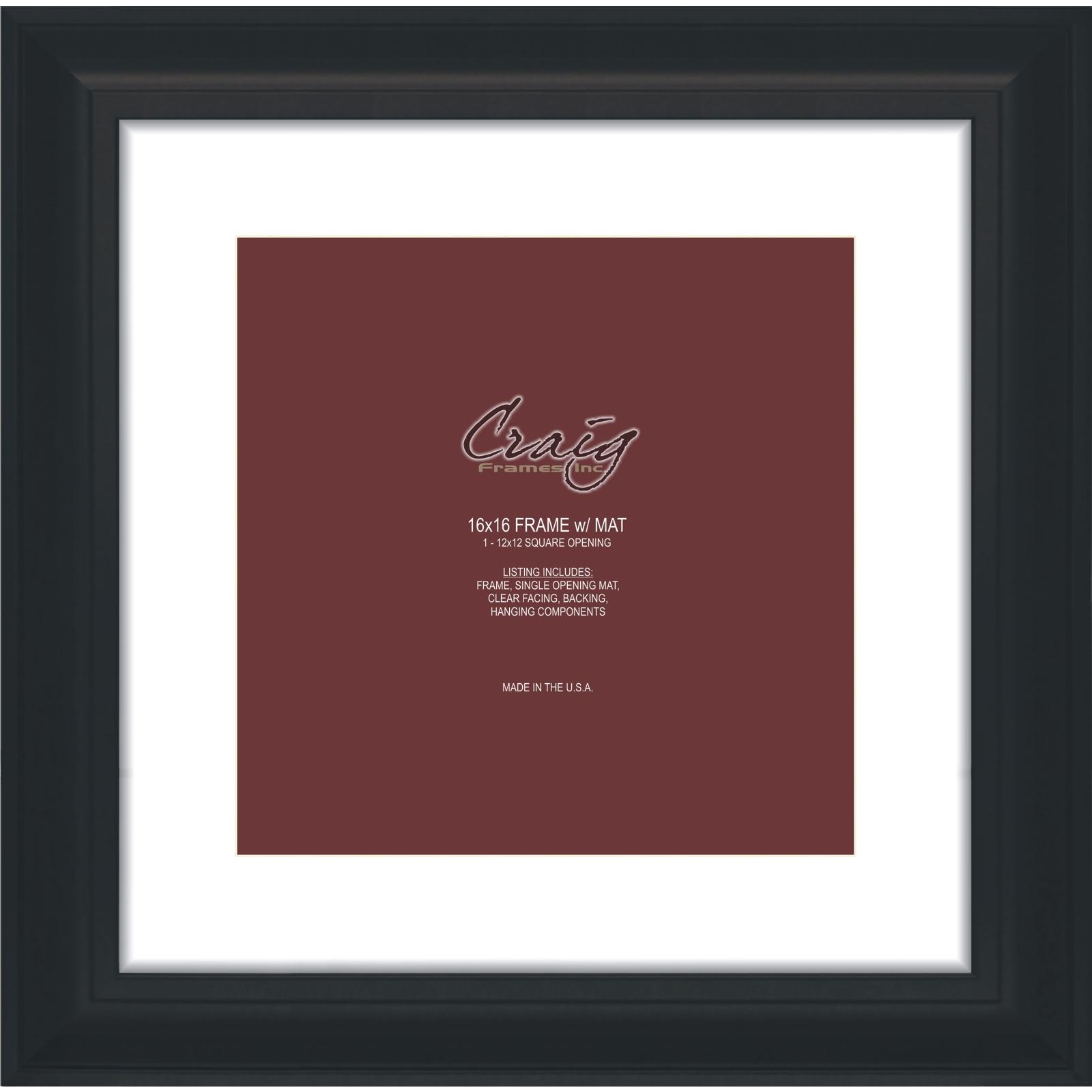 "Craig Frames Inc 16 x 16 Contemporary Upscale Frame with 2"" Mat (21834) PartNumber: 021V007812068000P KsnValue: 7812068 MfgPartNumber: 581161601B14A"