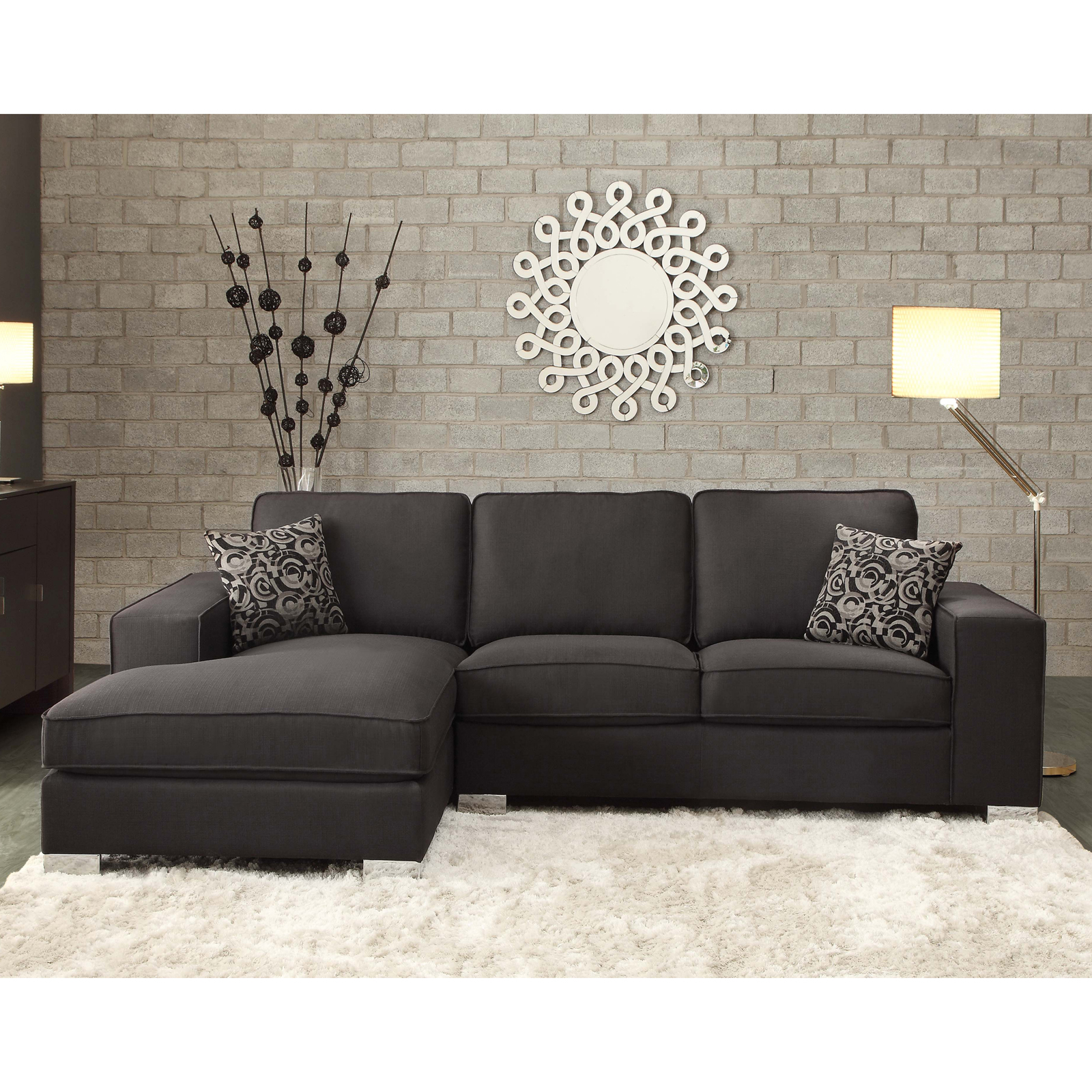Oxford Creek Sotelo Contemporary Sectional Sofa Home Furniture Living Room Furniture