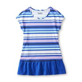 Basic Editions Girl's Drop-Waist Tunic - Glitter Striped at Kmart.com