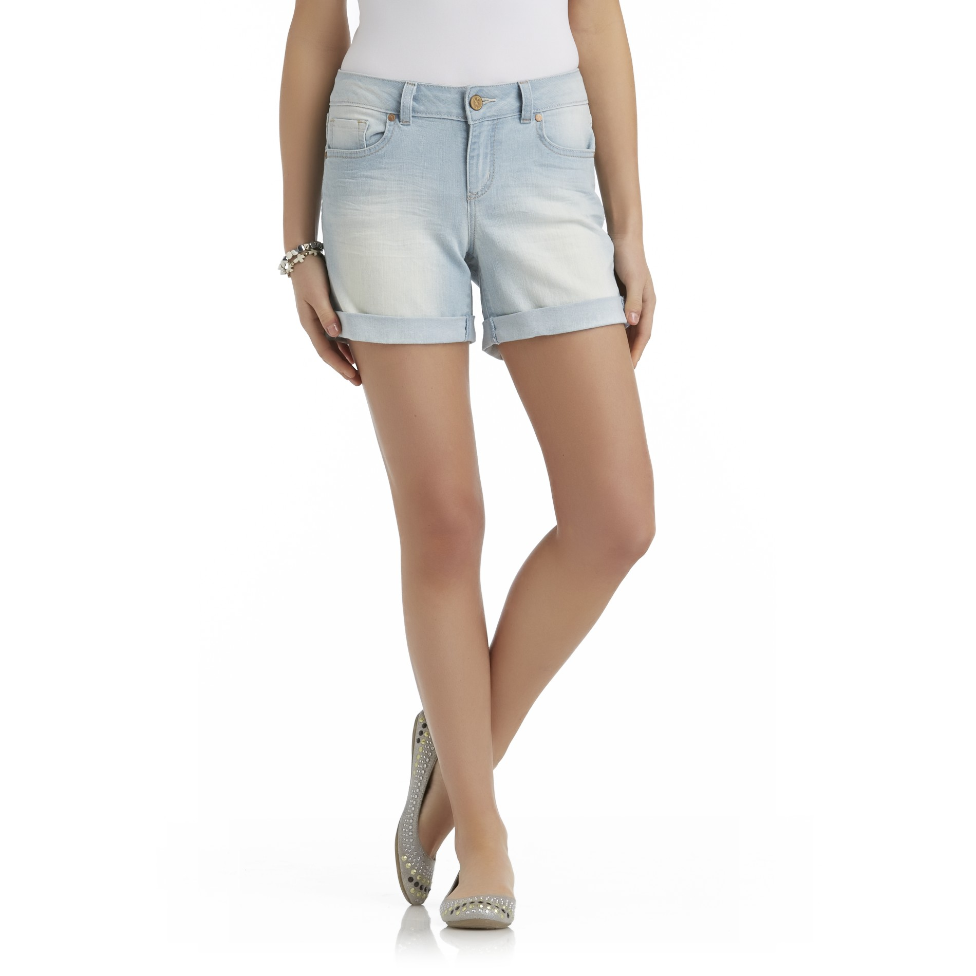 True Freedom Junior's Myra Relaxed Fit Cuffed Shorts at Sears.com