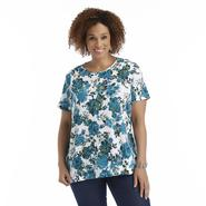 Women's Plus T-Shirt - Floral