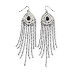 Dream Out Loud by Selena Gomez Junior's Silvertone Fringed Teardrop Earrings at Kmart.com