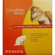 Champion Breed Natural Scent Scoopable Cat Litter 40 Pound Bag at Kmart.com