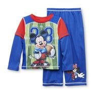 Disney Baby Infant & Toddler Boy's Pajama Shirt & Pants - Football Mickey Mouse at Kmart.com