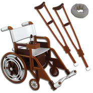 WWE Wheelchair Playset (Wooden) -  Ringside Exclusive Toy Wrestling Action Figure Accessories Pack at Kmart.com