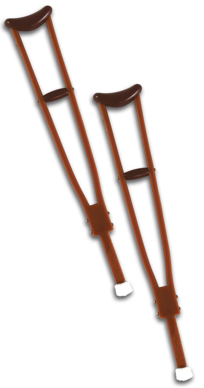 WWE Pair of Crutches (Wooden) -  Ringside Exclusive Toy Wrestling Action Figure Accessories PartNumber: 004V008686775000P KsnValue: 004V008686775000 MfgPartNumber: REX-063
