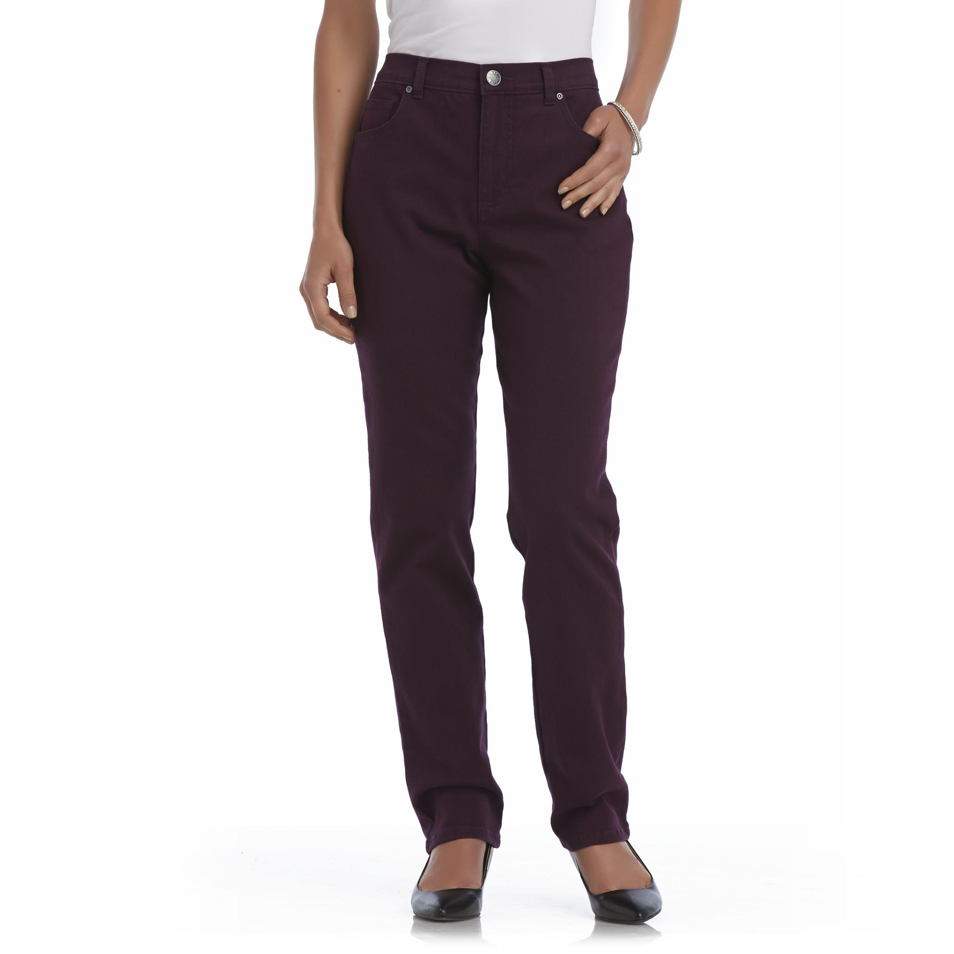 Basic Editions Women's Classic Fit Colored Jeans at Kmart.com