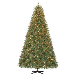 Donner and Blitzen 9' Pre-Lit Pine Tree