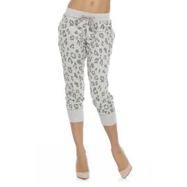 Kardashian Kollection Women's Cropped French Terry Sweatpants - Leopard Print at Sears.com