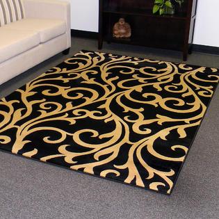 Tiffany design 168 area rug 5'x7' - Black