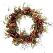 Sandra by Sandra Lee Winter Radiance  Pinecone Wreath, 24 in at Kmart.com
