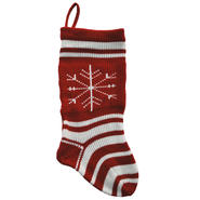 Sandra by Sandra Lee Merry Holiday Knit Stocking-White, 20 in. at Kmart.com