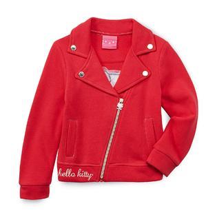 Hello Kitty Girl's Fleece Moto Jacket