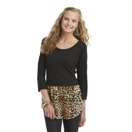 Bongo Junior's Peplum Tunic - Leopard Print at Sears.com