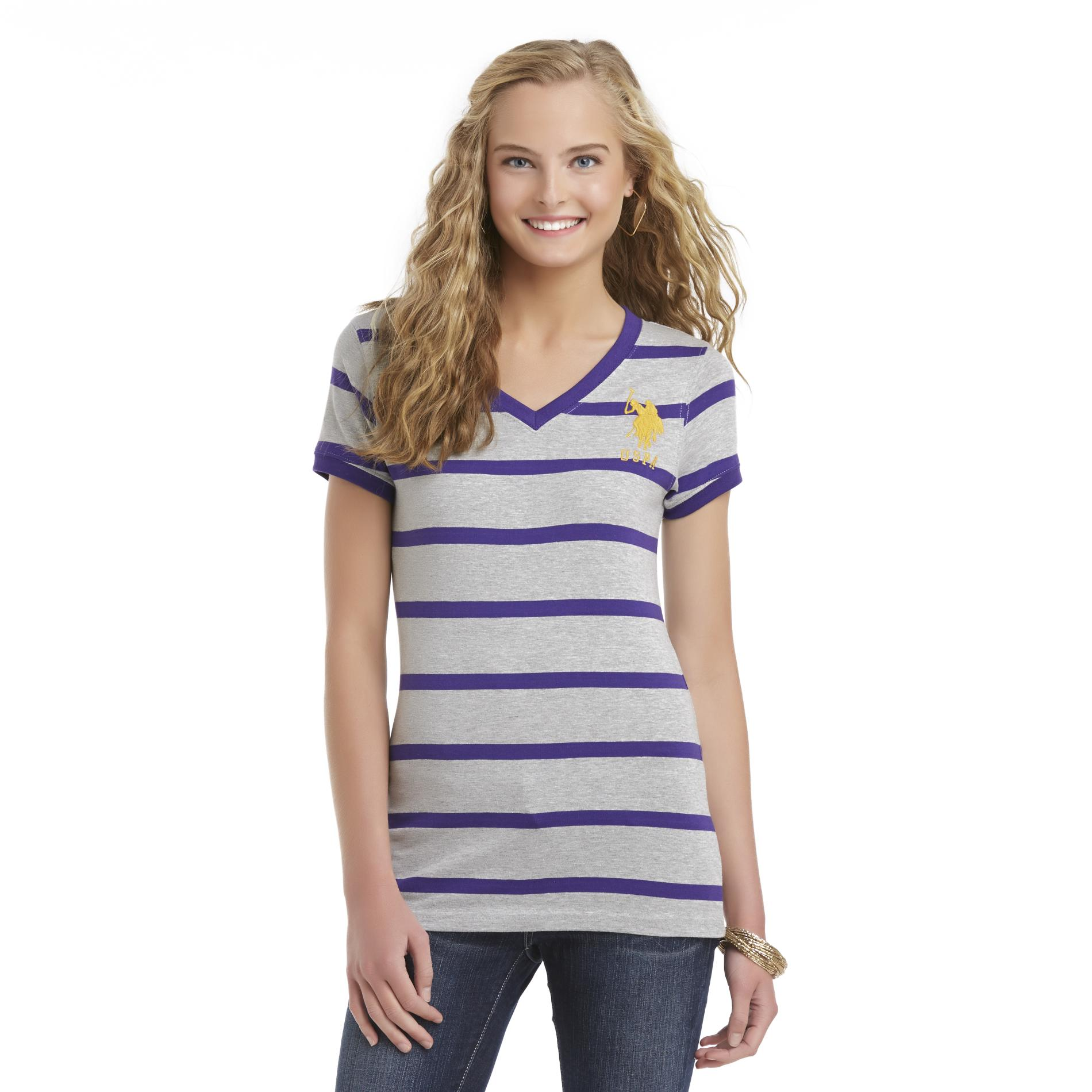 U.S. Polo Assn. Junior's Fitted T-Shirt - Striped at Sears.com
