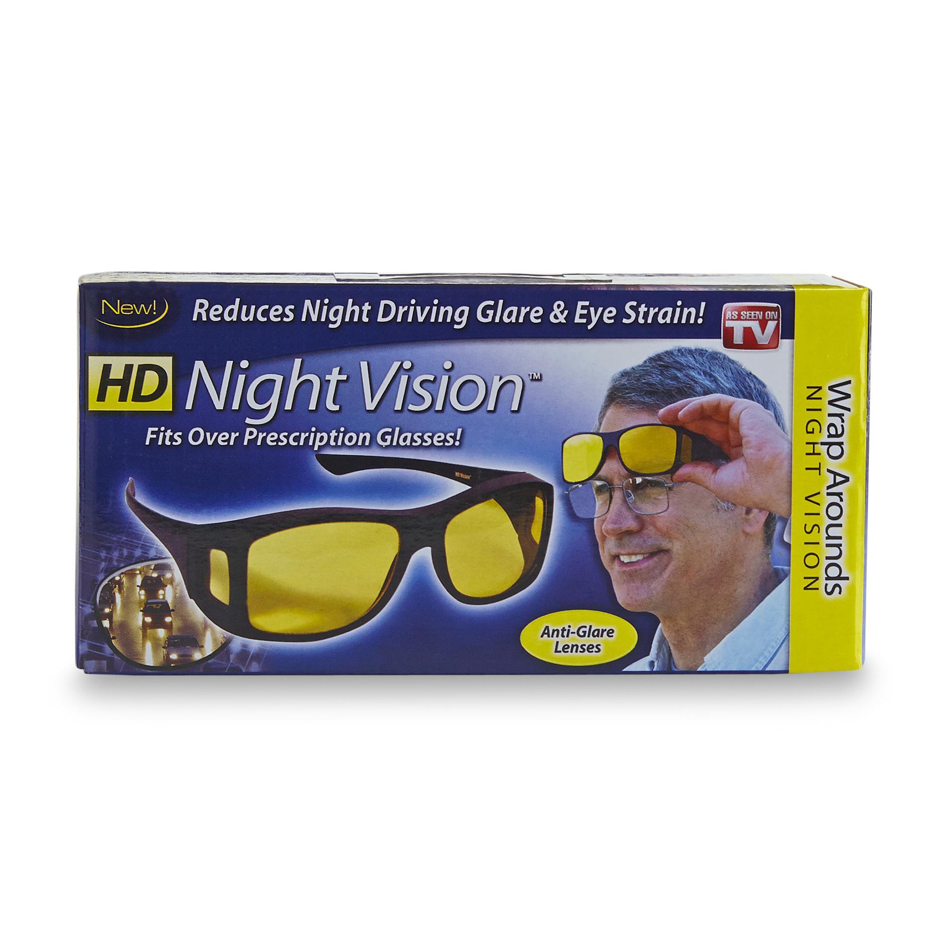 As Seen On TV HD Night Vision Wraparound Glasses PartNumber: 00853762000P KsnValue: 7570424 MfgPartNumber: HDWRAPN