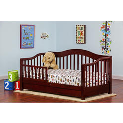 Dream On Me Toddler Day Bed with Storage Drawer, Cherry at Kmart.com