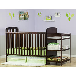 Dream On Me Dream On Me, 2 in 1 Full Size Crib and Changing Table Combo, Espresso at Kmart.com