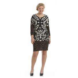 JBS Women's Plus Knit Shift Dress - Abstract Tribal at Sears.com