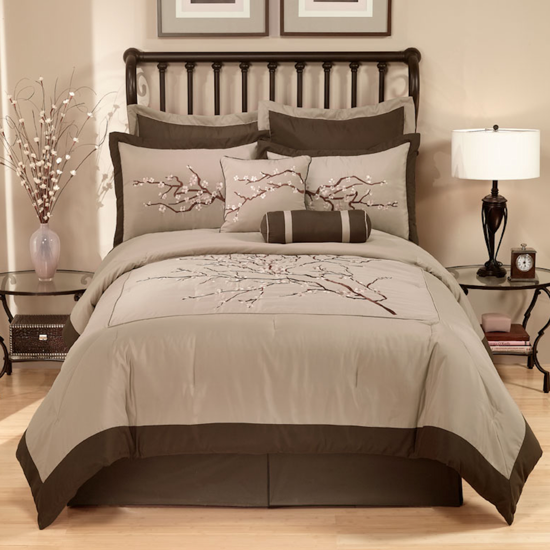 Pem America Zen Blossom Comforter Set With 4 Bonus Pieces