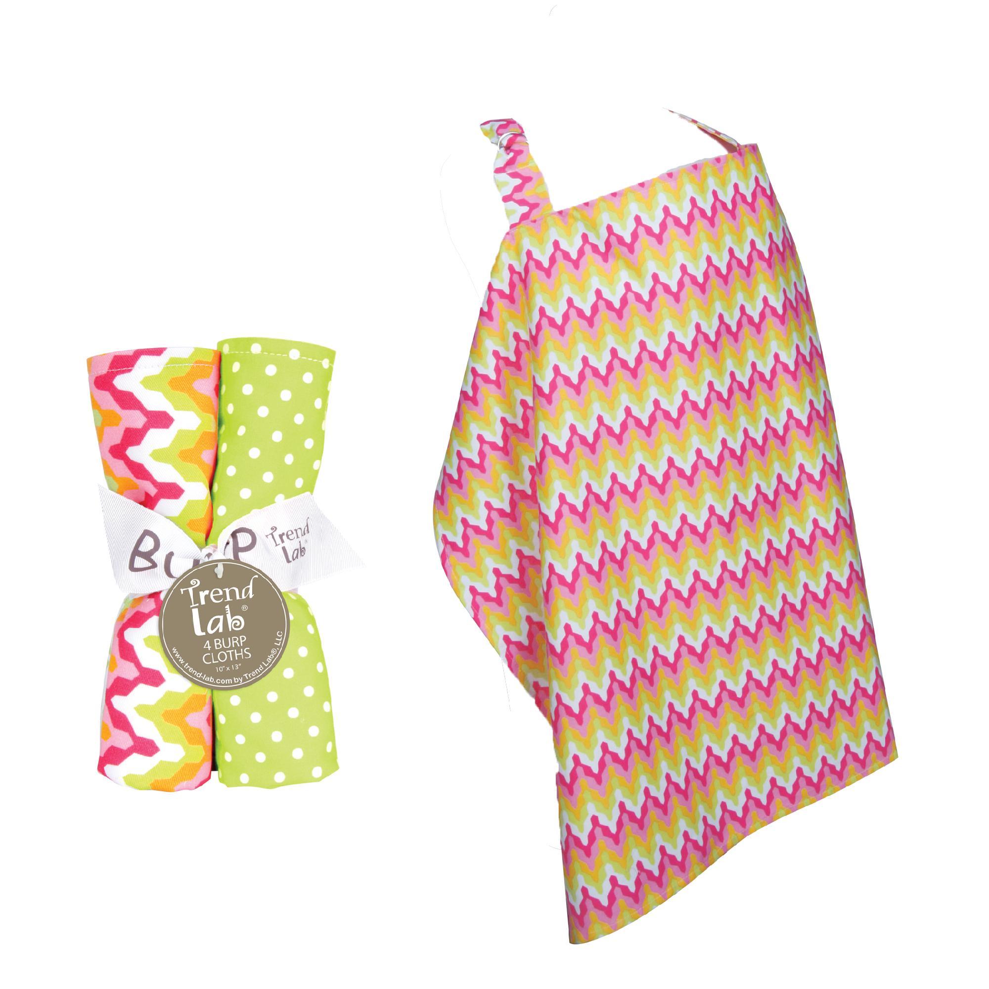 Trend Lab NURSING COVER AND BURP CLOTH SET SAVANNAH Baby