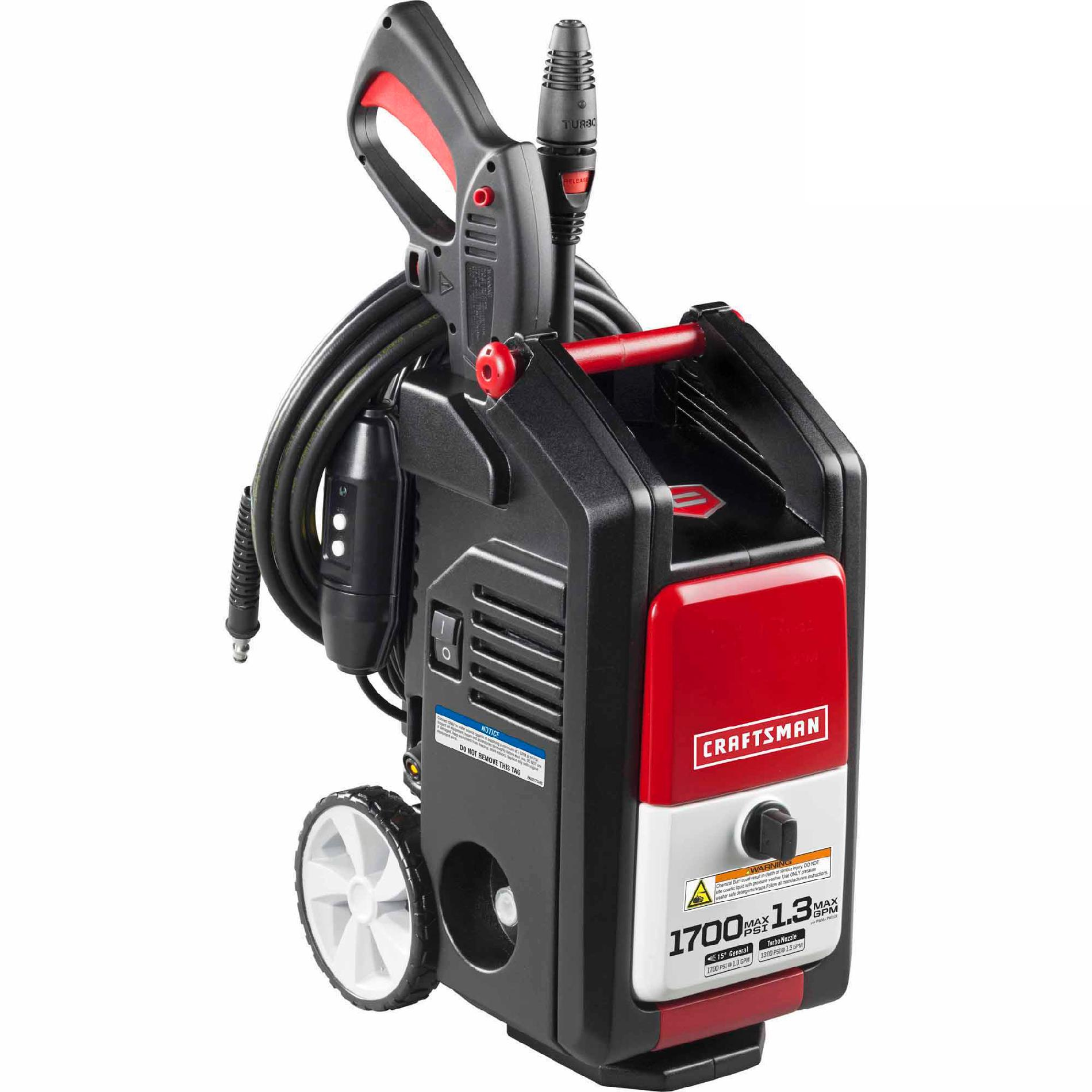 Craftsman 1700psi 1.3GPM Electric Pressure Washer (Non CA)