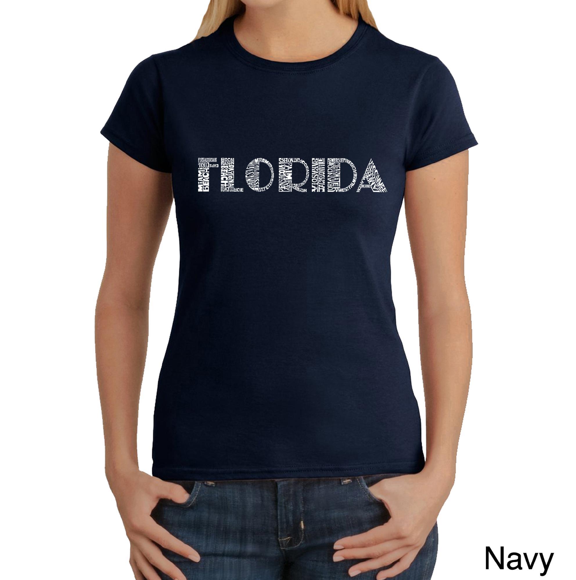 Los Angeles Pop Art Women's Word Art T-shirt - Popular Cities in Florida - Online Exclusive at Kmart.com