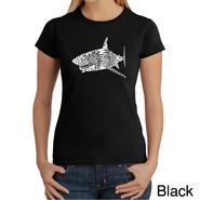 Los Angeles Pop Art Women's Word Art T-shirt - Species of Shark - Online Exclusive at Kmart.com