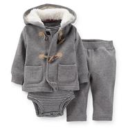 Carter's Newborn & Infant Boy's Hooded Toggle Jacket, Bodysuit & Sweatpants at Sears.com