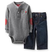 Carter's Newborn & Infant Boy's Thermal Bodysuit & Denim Jeans at Sears.com
