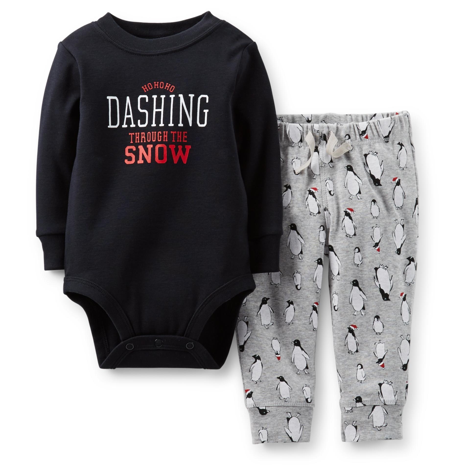 Carter's Newborn & Infant Boy's Bodysuit & Pants - Penguins